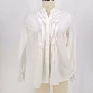Abercrombie & Fitch Top Women Small Pintuck Button